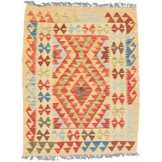 eCarpetGallery Hand-woven Anatolian Kilim Red Wool Kilim Rug (2'9 x 3'10)