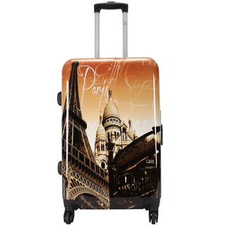 Eiffel Tower by Oh la la 24-inch Expandable Hardside Spinner Suitcase
