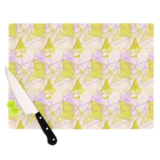 "Kess InHouse Alison Coxon ""Yellow"" Cutting Board"