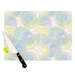 "Kess InHouse Alison Coxon ""Blue Paper Flower"" Cutting Board"