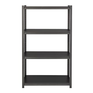"Iron Horse 3200 lb Concealed Riveted Shelving, 60""Hx36""Wx18""D, Gray"