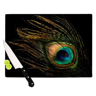 "Kess InHouse Alison Coxon ""Peacock Black"" Cutting Board"