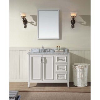 "Jude 42"" Single Bathroom Vanity Set - White"