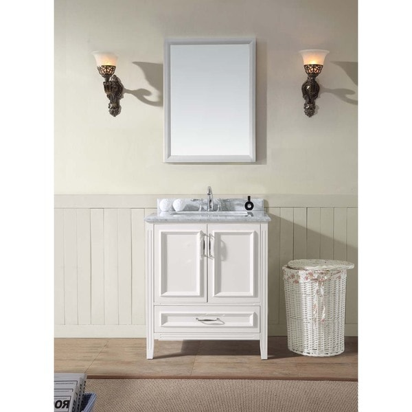 Jude 30  Single Bathroom Vanity Set White Free Shipping Today