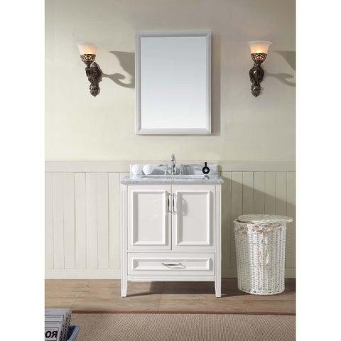 "Jude 30"" Single Bathroom Vanity Set - White"