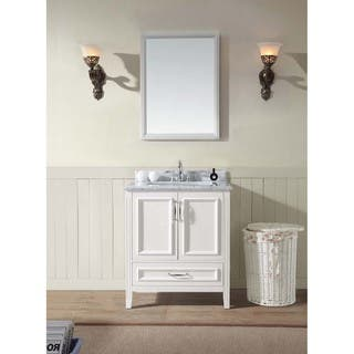 single white vanity with sink. Jude 30  Single Bathroom Vanity Set White Option Vanities Cabinets For Less Overstock com