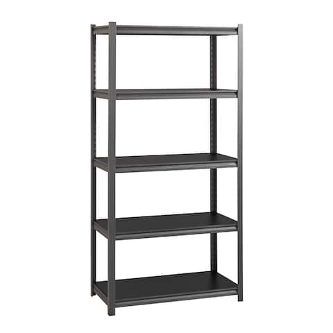 """Iron Horse 3200 lb Concealed Riveted Shelving, 72""""Hx36""""Wx18""""D, Gray"""