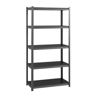Iron Horse Grey Steel 3200-pound 72-inches High x 36-inches Wide x 18-inches Deep Rivet Shelving Unit