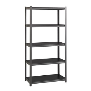 "Iron Horse 3200 lb Concealed Riveted Shelving, 72""Hx36""Wx18""D, Gray"
