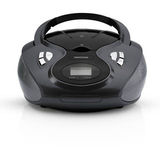Memorex Black AM/FM Bluetooth CD Boombox