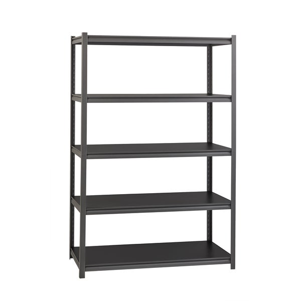 "Iron Horse 3200 lb Concealed Riveted Shelving, 72""Hx48""Wx18""D, Gray"