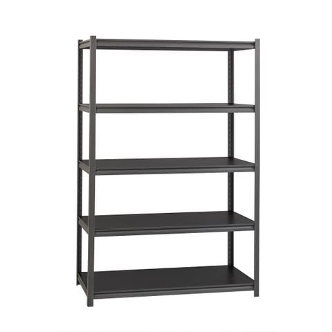 """Iron Horse 3200 lb Concealed Riveted Shelving, 72""""Hx48""""Wx18""""D, Gray"""