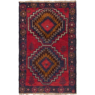 eCarpetGallery Kazak Red/Brown Wool Hand-knotted Area Rug (3' x 4'6)