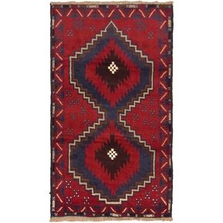 eCarpetGallery Kazak Red Hand-knotted Wool Rug (2'10 x 5')