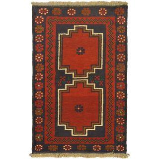 eCarpetGallery Kazak Red Wool Hand-knotted Rug (2'10 x 4'4)