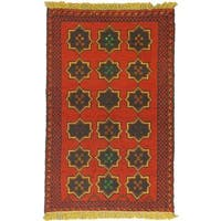 eCarpetGallery Kazak Red Wool Hand-knotted Rug (2'9 x 4'3)