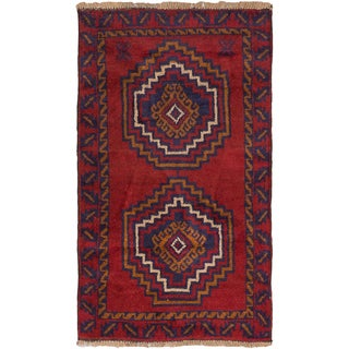 eCarpetGallery Kazak Red Wool Hand-knotted Rug (2'9 x 4'8)