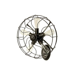 Vintage Industrial Black Iron Fan Wall Sconce Light