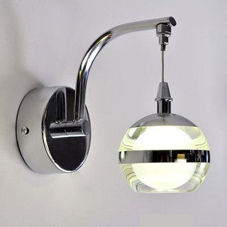 Corridor Single Head Acrylic Stainless Steel LED Wall Sconce