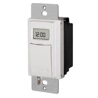 Intermatic ST01 White Plastic Single-pole/3-way Compatible Self-adjusting Wall Switch Timer