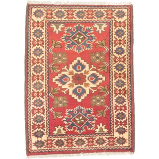 eCarpetGallery Red/Yellow Wool Hand-knotted Finest Kargahi Rug (2'2 x 2'11)