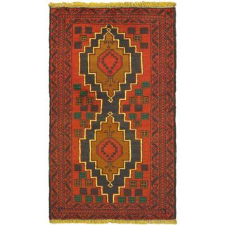 eCarpetGallery Kazak Red Wool Hand-knotted Rug (2'9 x 4'9)