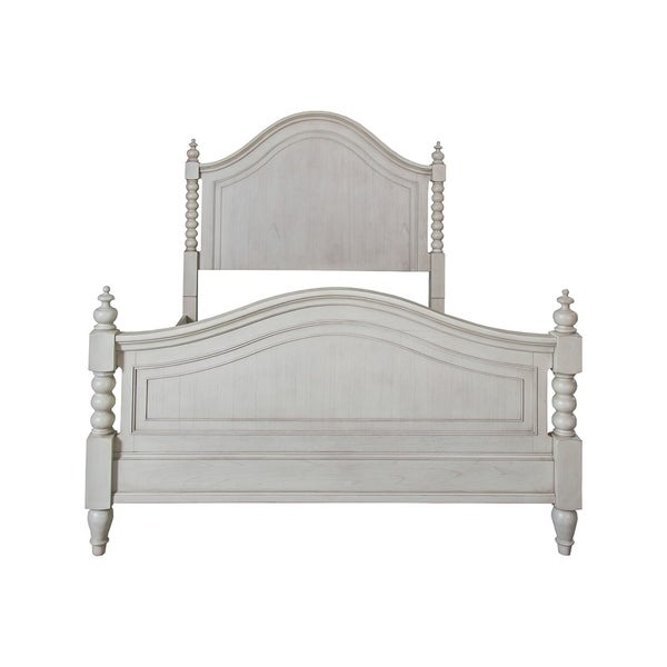 Harbor Dove Gray Cottage Twist Spindle Poster Bed