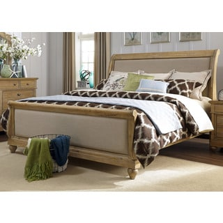 Harbor Sand Cottage Upholstered Sleighbed