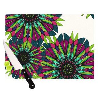 Kess InHouse Alison Coxon Bright Multicolor Glass Cutting Board