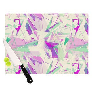 "Kess InHouse Alison Coxon ""Shatter Purple"" Cutting Board"