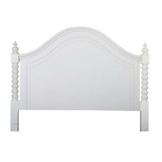 Harbor White Cottage Twist Spindle Poster Bed