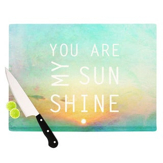 Kess InHouse Alison Coxon 'You Are My Sunshine' Glass Cutting Board