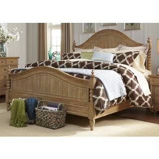 Harbor Sand Cottage Twist Spindle Poster Bed