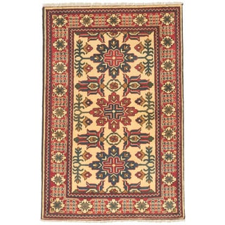 eCarpetGallery Finest Kargahi Red, Yellow Wool Hand-knotted Rug (2'9 x 4'1)