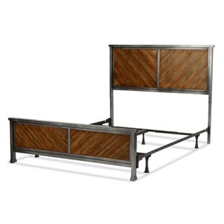 Braden Complete Bed with Metal Panels and Reclaimed Wood Design