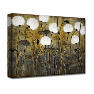 A Million Wishes' by Norman Wyatt, Jr Floral Wrapped Canvas Wall Art