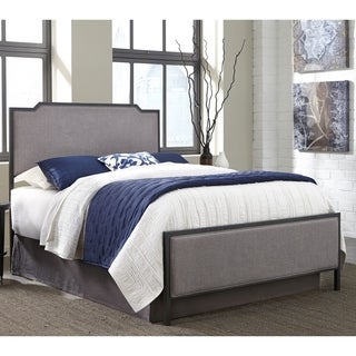 Bayview Complete Bed with Metal Panels and Gray Dove Upholstery