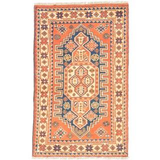 eCarpetGallery Brown Wool Hand-knotted Finest Kargahi Rug (2'8 x 4'1)