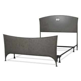 Barrington Complete Bed with Metal Panels and Industrial Circular Design