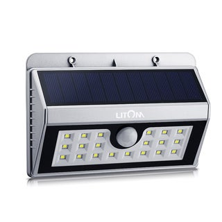 Solar-powered Weatherproof Wireless 20 LED Security Motion Sensor Patio Light Source With Three Modes