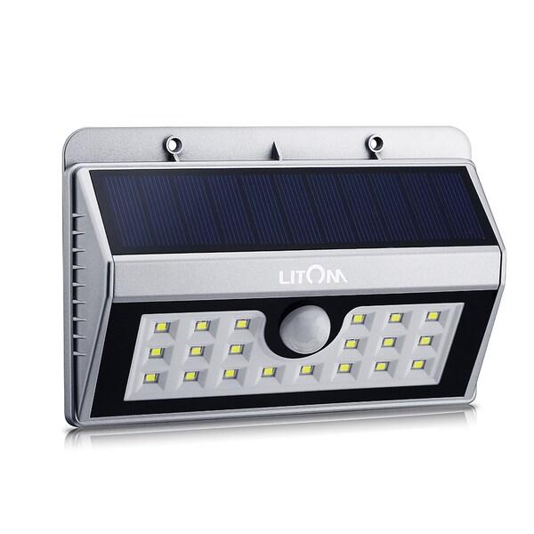 Solar-powered Weatherproof Wireless 20 LED Security Motion Sensor ...