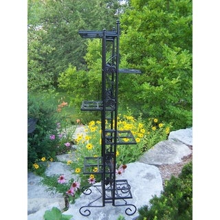 Black Wrought Iron 6-level 65-inch Plant Stand