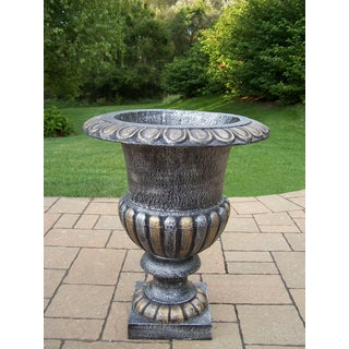 Valencian Pewter Iron 24-inch Tall Urn