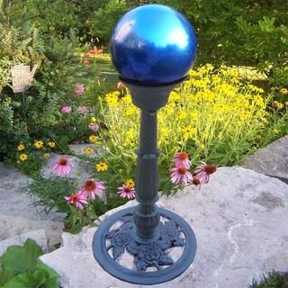 Blue Glass and Metal Gazing Globe