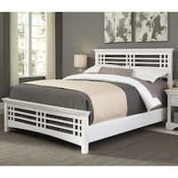Fashion Bed Group Avery Wood Bed in Cottage White Finish