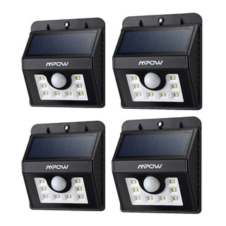 MPOW 20 LED Source Lights Solar-powered Wireless Security Motion Light (Pack of 4)