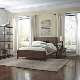 Arlington Platform Bed with Metal Duo Panels and Wood Slat Design