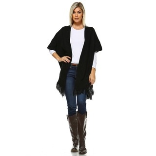 White Mark Women's Acrylic Long Cardigan