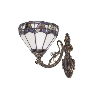 Blue Upward Tiffany-style 8-inch Wall Sconce Lamp