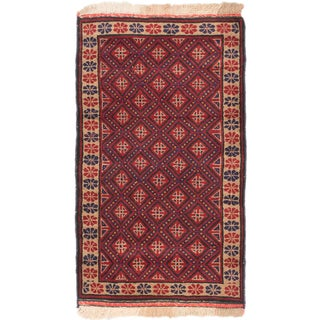 eCarpetGallery Hand-knotted Teimani Black/Red Wool Rug (2'6 x 4'4)